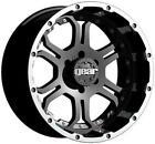 "18"" GEAR ALLOY RECOIL BLACK WITH 38X13.50X18 TOYO OPEN COUNTRY MT  WHEELS RIMS"