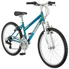 "24"" Girls' Mountain Bike Bicycle Teal Color Front Suspension Shimano 18 Speed"