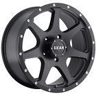 18x9 Black Gear Alloy Smoke  5x4.5 +10 Wheels Open Country AT II 255/55R18