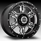 20x9 Black V-Tec Rage 5x5 -12 Rims W/ Federal Couragia MT 35X12.5X20 Tires New