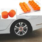 Orange #19 Car Silicone Tire Hub Caps Screw Cover Waterproof Rust-proof Dust