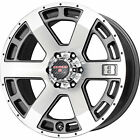 17x9 Gunmetal Level 8 Scorpion 6x5.5 +18 Wheels Open Country AT II P285/70R17
