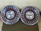"1962 Cadillac Hub Caps 15"" Set of 2 Caddy Wheel Covers BROWN"