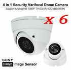 Security 2.8mm-12mm IR Dome Camera 2.4MP Outdoor Indoor 1080P CVI TVI AHD ANALOG
