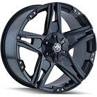 00-06 GMC Yukon 1500 20x9 6x5.5 +20 108 Mayhem Patriot 8080MB Wheels Rims Black