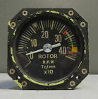 Vintage Aerospatiale Rotor RPM CMR Indicator Aircraft Gauge