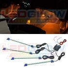 LEDGlow 4pc Orange LED Lights Interior Lighting Kit Footwell Dash Neon w 72 LEDs
