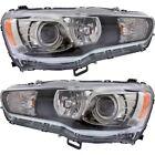 New HID Headlights Lamps Set of 2 Driver & Passenger Side LH RH Lancer Pair