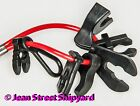 Universal boat coiled 7 key emergency engine cut off kill switch lanyard tether