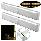 2x 10 LED Wireless Night Light Motion Detector Sensor Closet Cabinet Light Lamp