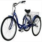 3 Wheel Bikes For Adults Schwinn Trikes for Adults Tricycle 26-Inch (Blue)