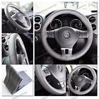 """GRAY PVC Leather Universal Car Truck Leather DIY Steering Wheel Cover 14""""-15"""""""