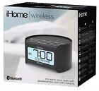 New iHome iBT230 Bluetooth WIRELESS SPEAKER Bedside Dual Alrm Clock Radio