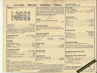 1973 FORD MERCURY MONTEGO/TORINO 400 ci CODE S V8 Car SUN ELECTRONIC SPEC SHEET