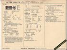 1968 CHEVROLET CORVETTE V8 TURBO FIRE 327ci/300 hp Car SUN ELECTRONIC SPEC SHEET