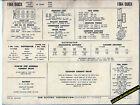 1964 BUICK SPECIAL and SKYLARK V8 300 ci Engine Car SUN ELECTRONIC SPEC SHEET