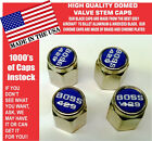 Chrome Ford Mustang Tribute Fastback 429 Blue Valve Stem Caps - Nice