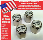 Chrome Ford Mustang Tribute Fastback 429 White Valve Stem Caps - Nice