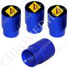 4 D Blue Billet Aluminum Knurled Tire Air Valve Stem Caps - 1% ER Percenter YDBR