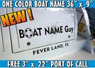 Boat Lettering Name Graphics Marine Identity Decal Design Proof Jet Ski Names