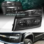 SMOKE LENS HEADLIGHTS+BUMPER LAMPS W/CLEAR REFLECTOR FIT 04-12 CHEVY COLORADO