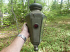 Antique Brass Era Automobile Car Carriage Buggy Light Lamp Electric BeveledGlass