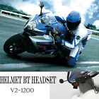 Motorcycle Interphone Wireless Bluetooth Motorbike Helmet Intercom Headset 1200m
