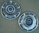 "Lot of 2 1965 Chevy Impala Hubcaps ~ 14"" ~ Blue ~ Wheel Cover ~ Hub Cap ~ Hubcap"