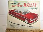 1952 - 1954 AERO WHILLYS WING & ACE FULL COLOR SALES BROCHURE OPENS TO POSTER