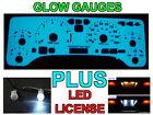 Glow Gauge + LED License Bulb For 1997-2006 Jeep Wrangler TJ Unlimited / Rubico