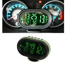 Car 12-24V LCD Digital Clock In/Outdoor Temperature Thermometer Voltage Meter
