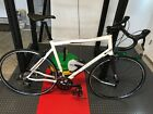 2015 Orbea Avant H50 60cm White/Red Road Bike Shimano  Carbon Fork + extras!