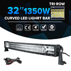 """TRI-ROW 32inch 810W CREE Curved LED Light Bar Offroad Truck UTE Driving SUV 28"""""""