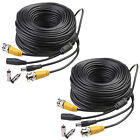 2x 150ft BNC Video Power Security Cable Cord for CCTV  Surveillance Camera