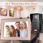 10.1' Screen Video Door Bell Phone Intercom Speakerphone Code Keypad Camera O5Y7