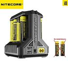Nitecore i8 LED Battery charger ( AA / AAA / C / D / 18650 / 26650 ) US UK AU EU
