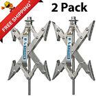 2 Trailer Camper RV X-Chock Wheel Stabilizer 1 Ratchet Handle Tire Locking Chock