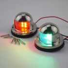 A Pair 12V Stainless Steel LED Bow Navigation Lights Marine Boat Yacht Newly