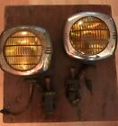 Pair of 1940's Chevy Fog Lamps US Pioneer 145 Fog Lights with Mounting Hardware