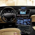 LCD Digital Clock Car Voltmeter Thermometer Hygrometer Weather Forecast Black