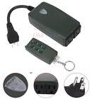 Waterproof 6 Key Wireless Remote Control Dual Switch Socket Plug-In Receiver US