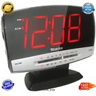 Tech Digital Alarm Clock Radio with Snooze Large Red Led Display Plasma AM FM
