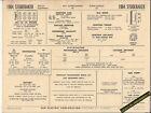 1964 STUDEBAKER SPECIAL EQUIPMENT 305 ci V8 Car SUN ELECTRONIC SPEC SHEET