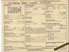 1973 DODGE PLYMOUTH CHRYSLER 400 ci/ 175-185 hp V8 Car SUN ELECTRONIC SPEC SHEET