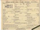 1973 BUICK CENTURY/REGAL/LE SABRE/CENTURION 350 ci Car SUN ELECTRONIC SPEC SHEET