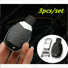 ABS Carbon Fiber Style Remote Keyless Key Cover Fob Case Shell For Mercedes Benz