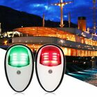 HOT Pair of Boat Red and Green ABS White Housing Bow Navigation Light