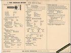 1969 AMERICAN MOTORS AMC 6 Cylinder 199 ci/ 128 hp Car SUN ELECTRONIC SPEC SHEET