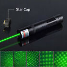 10Mile Powerful Red Laser Pointer+Star Cap 5mw 532nm Lazer Pen Light Beam Foucs
