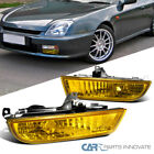 Fit 97-01 Honda Prelude Yellow Bumper Fog Lights Driving Bumper Lamps+Switch